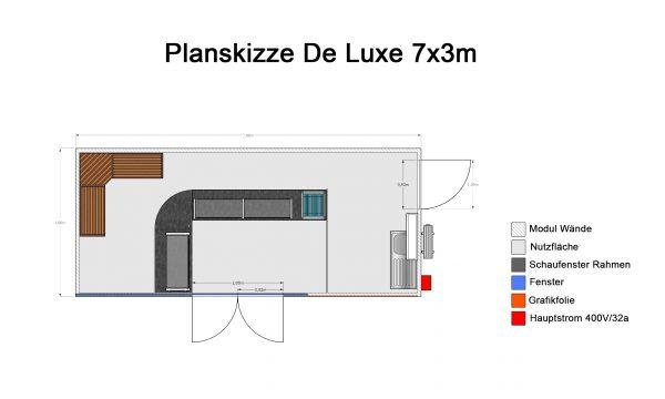 Bäckerei-Verkaufsmodul Deluxe (7x3m)