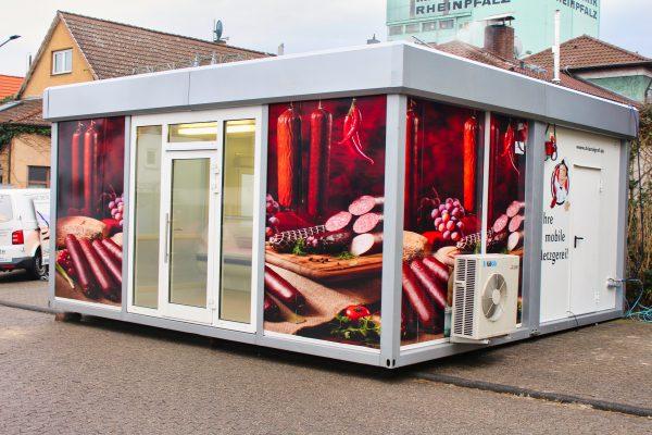 2er Metzgerei-Verkaufsmodule Pavillon Rechteck